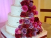 Fresh Roses Wedding Cake