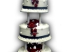 Descending Red Roses Wedding Cake