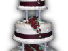 Red Roses 3-Tierd Wedding Cake