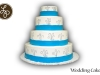 Blue Wrap Wedding Cake